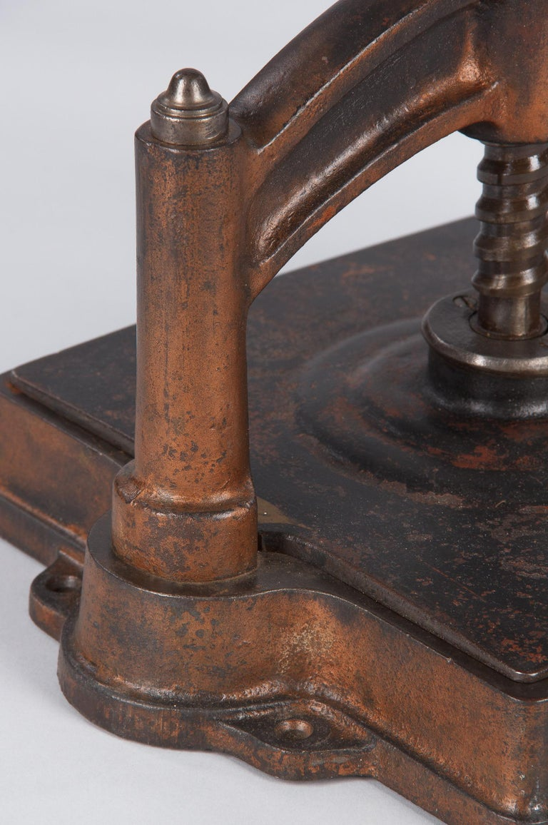 French Cast Iron Book Press, Fortin & Co, Early 1900s For Sale 4
