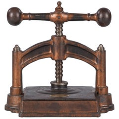 French Cast Iron Book Press, Fortin & Co, Early 1900s