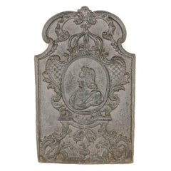 French Cast Iron Fireplace Plaque