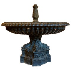 French Cast Iron Fountain with Dolphins by Val d'Osne