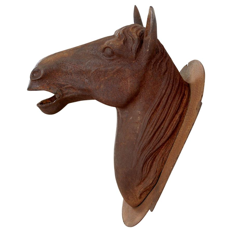 French Cast Iron Horse Head Bust Trade Sign
