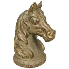 French Cast Iron Horse Head Hitching Post