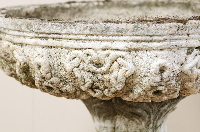 French Cast-Stone Garden Pedestal Planter or Fountain Base For Sale 3
