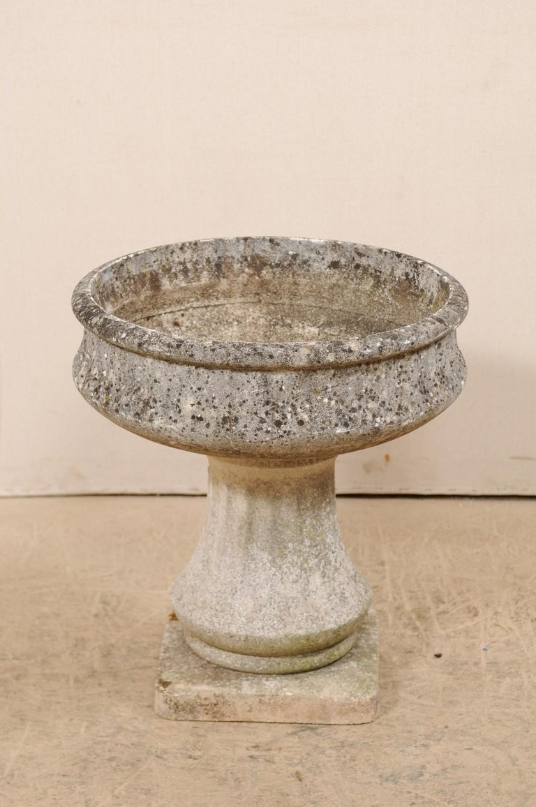 French Cast-Stone Pedestal Planter, Mid-20th Century For Sale 4