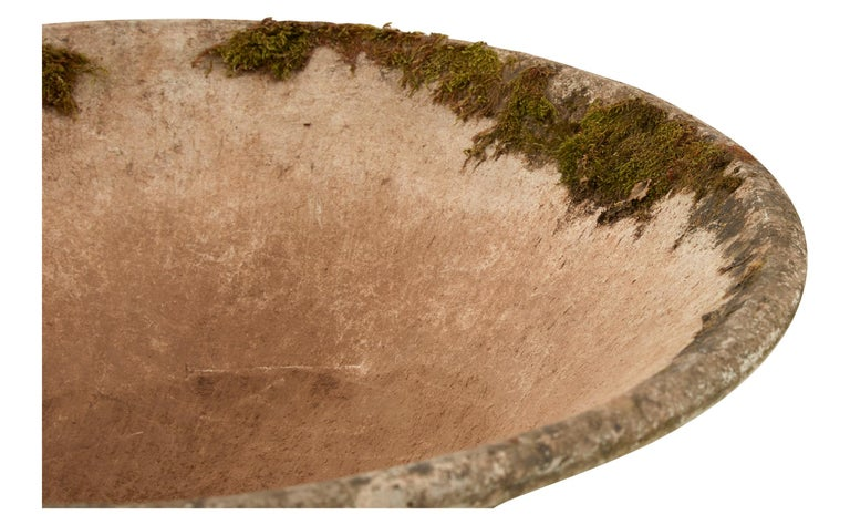 20th Century French Cast Stone Saucer Planter For Sale