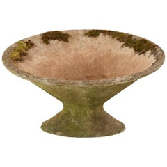 French Cast Stone Saucer Planter