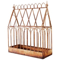 French Cathedral Wrought Iron Garden Planter