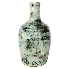 French Ceramic Artist Jacques Blin Ceramic Vase with Sgraffito Decoration