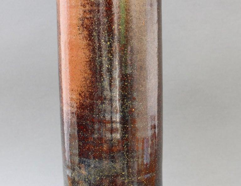 French Ceramic Bottle-Shaped Vase, circa 1960s For Sale 4