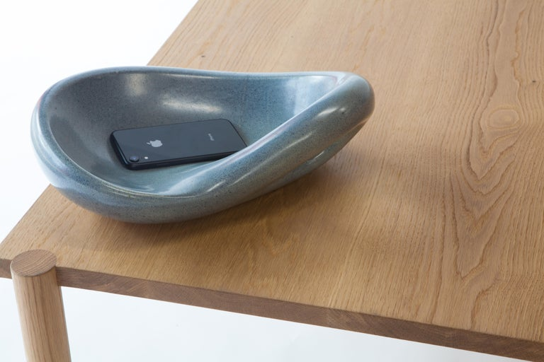Glazed French Ceramic Catch All Bowl For Sale