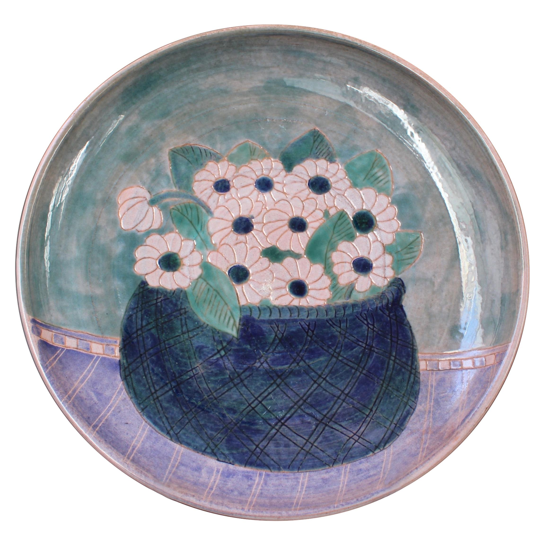 French Ceramic Decorative Platter by the Frères Cloutier 'circa 1970s'
