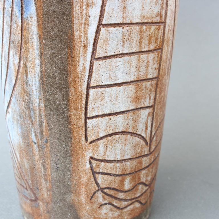 French Ceramic Decorative Vase by Alexandre Kostanda, circa 1960s For Sale 5