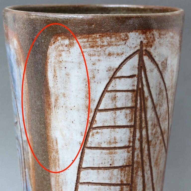 French Ceramic Decorative Vase by Alexandre Kostanda, circa 1960s For Sale 6