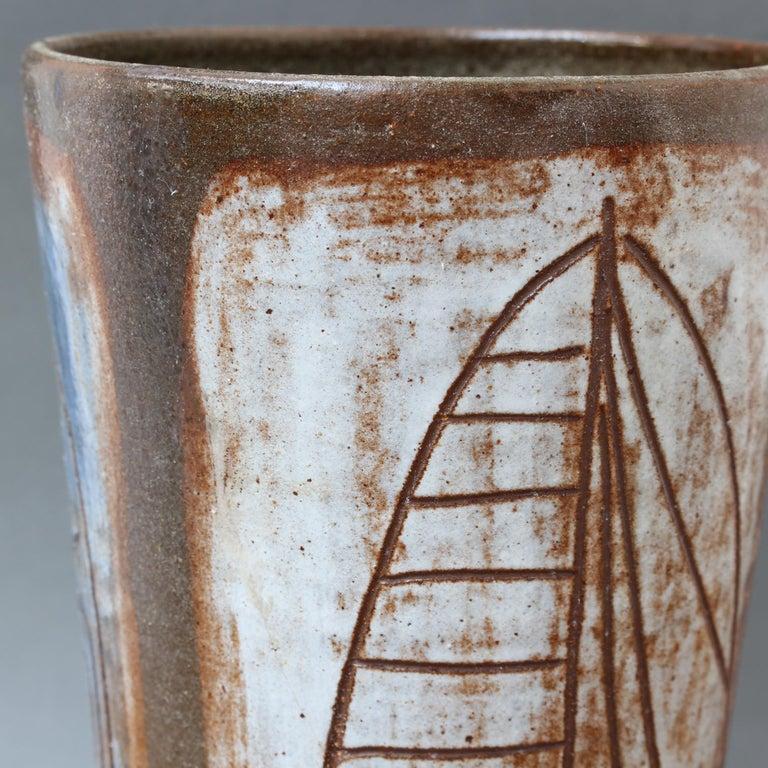 French Ceramic Decorative Vase by Alexandre Kostanda, circa 1960s For Sale 7