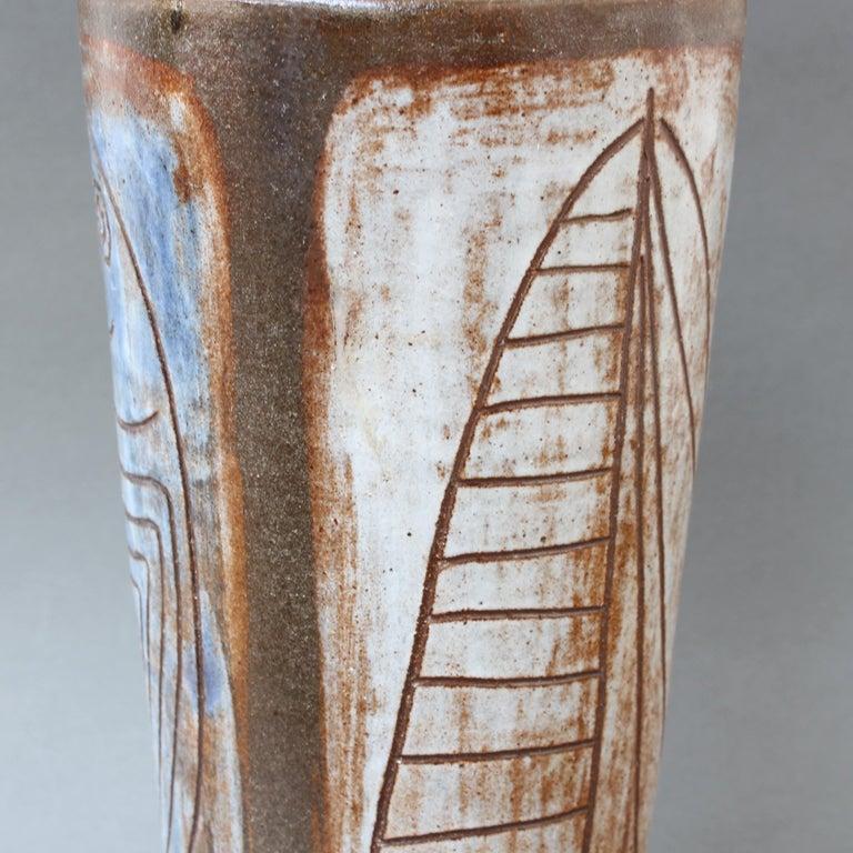 Mid-20th Century French Ceramic Decorative Vase by Alexandre Kostanda, circa 1960s For Sale