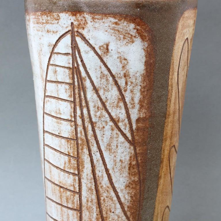 French Ceramic Decorative Vase by Alexandre Kostanda, circa 1960s For Sale 1