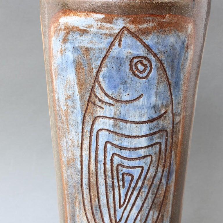 French Ceramic Decorative Vase by Alexandre Kostanda, circa 1960s For Sale 3