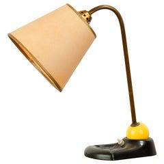 Mid Century Modern French Ceramic Desk Lamp