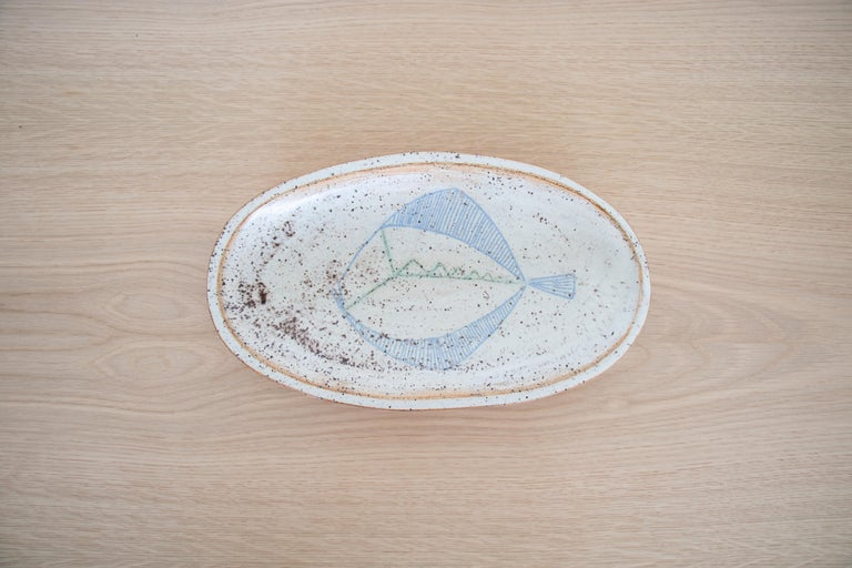 French Ceramic Fish Dish In Good Condition In Los Angeles, CA