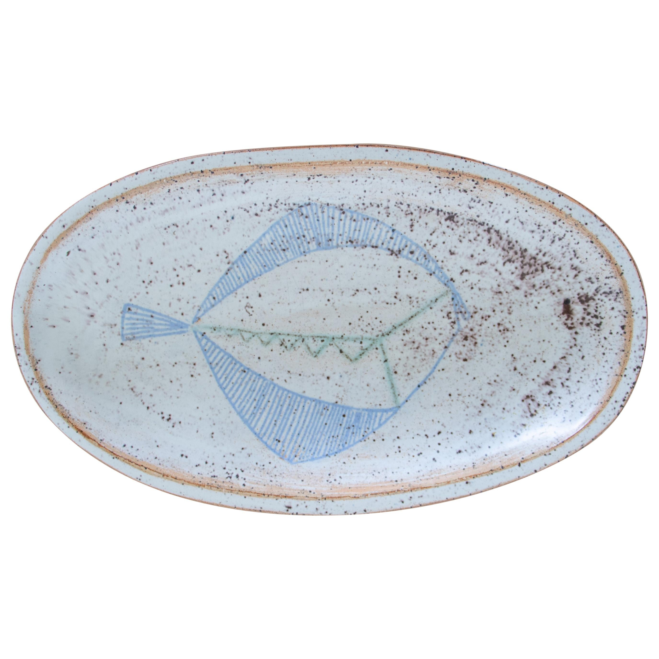 French Ceramic Fish Dish