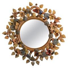 French Ceramic Mirror Style Line Vautrin George Jouve