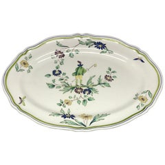 French Ceramic Painted Chinoiserie Platter