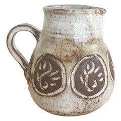 French Ceramic Pitcher by Albert Thiry