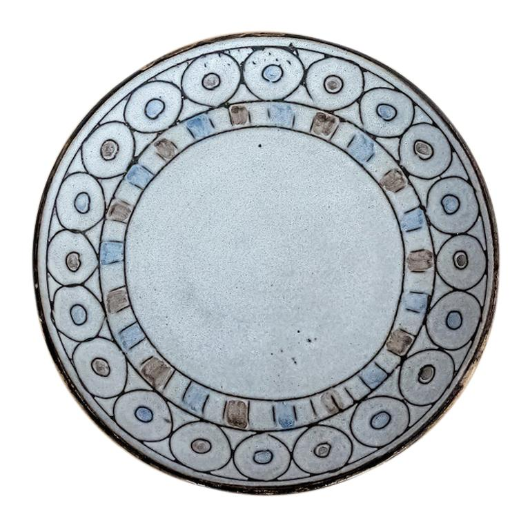 French Ceramic Plate by Vallauris