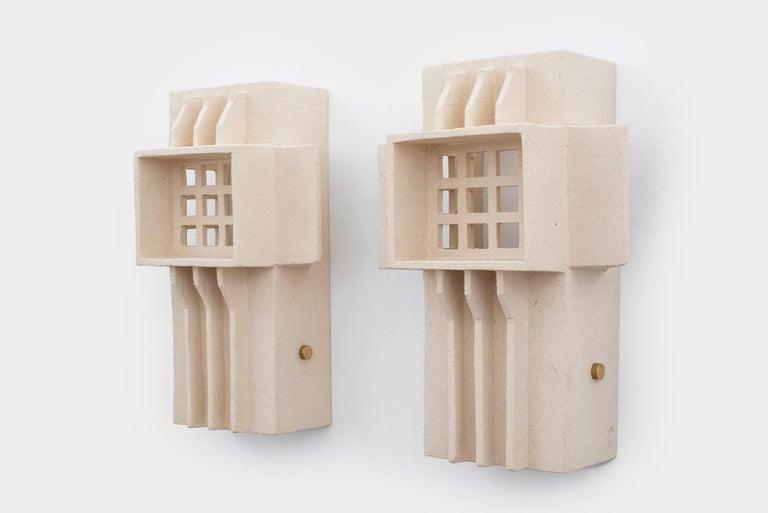 Contemporary French Ceramic Sconces For Sale