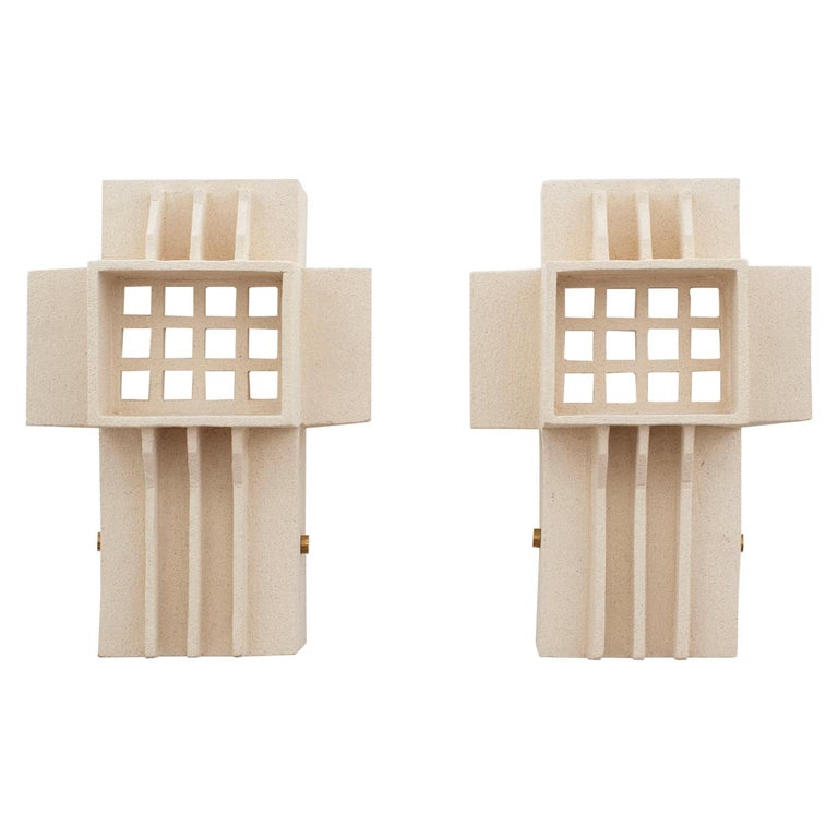 French Ceramic Sconces For Sale