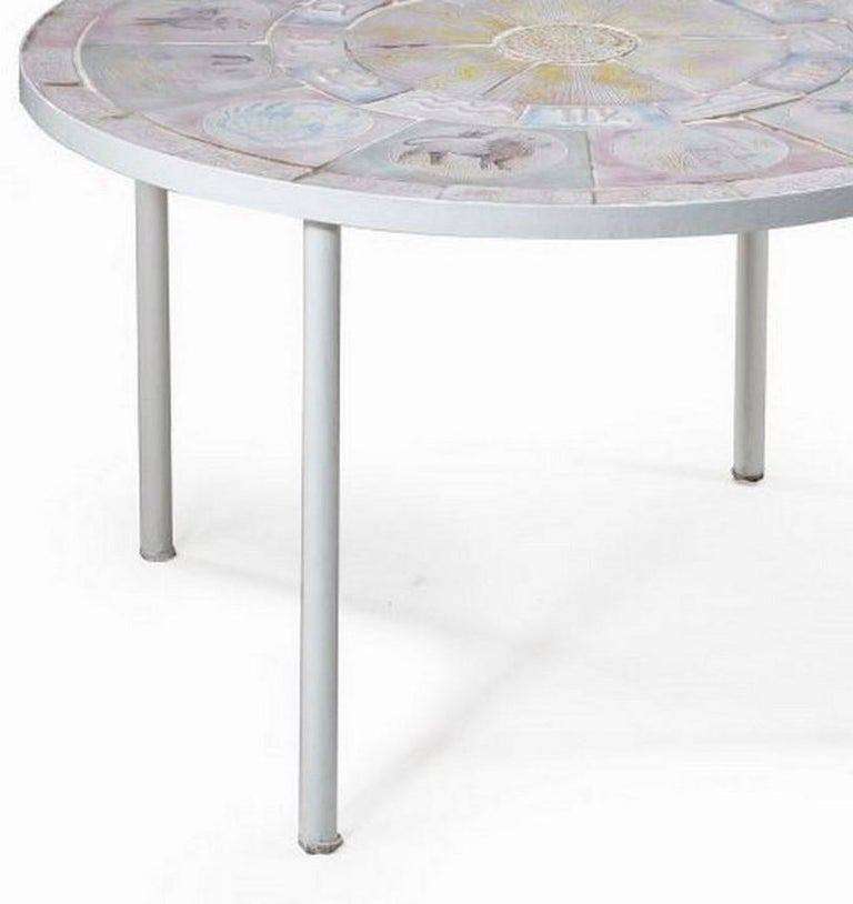 French Ceramic Tiled Table In Good Condition For Sale In London, GB