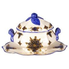 French Ceramic Tureen by Brachet Terrasson, 1950s