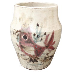 French Ceramic Vase by Gustave Reynaud, Le Mûrier, circa 1950s