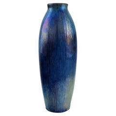 French Ceramist, Unique Antique Vase in Glazed Ceramics, Early 20th C