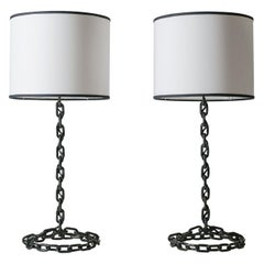 French Chain Link Table Lamps, circa 1970