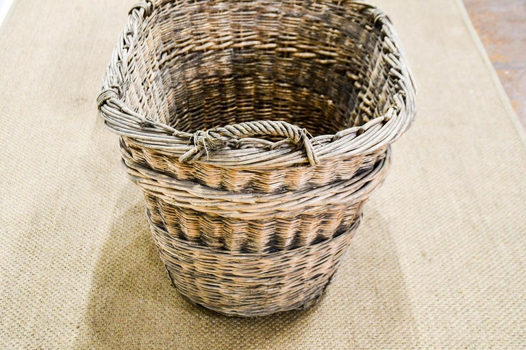 Country French Champagne Grape Gathering Baskets, Sold Singly For Sale