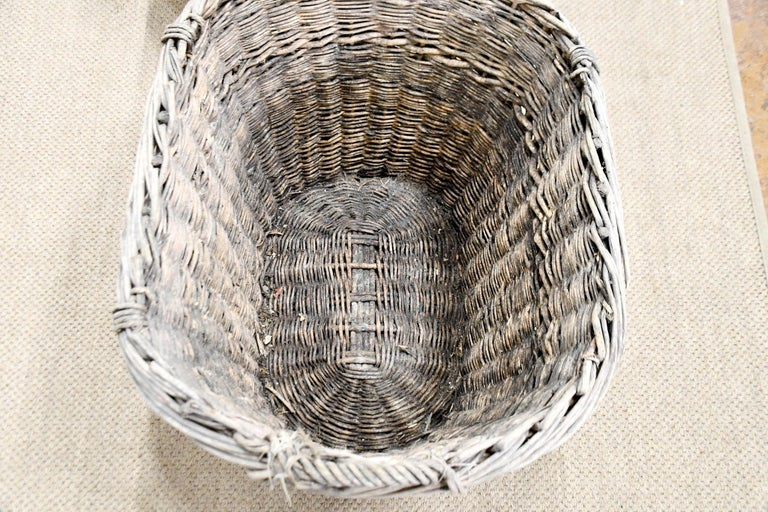 Hand-Woven French Champagne Grape Gathering Baskets, Sold Singly For Sale