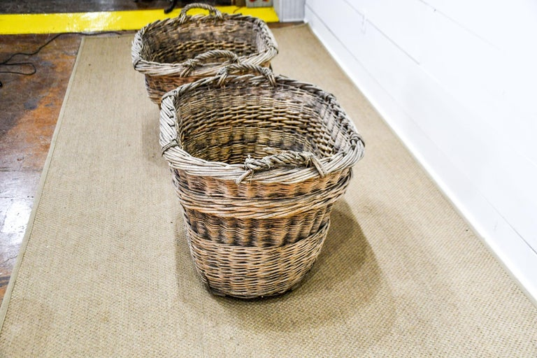 French Champagne Grape Gathering Baskets, Sold Singly In Good Condition For Sale In Great Barrington, MA
