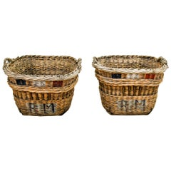 French Champagne Grape Gathering Baskets, Sold Singly
