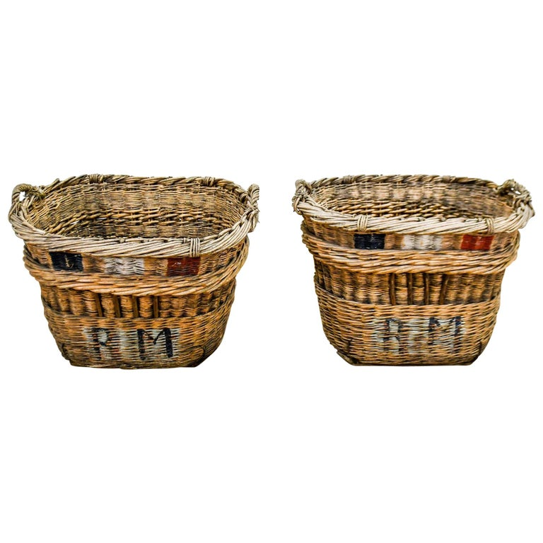 French Champagne Grape Gathering Baskets, Sold Singly For Sale