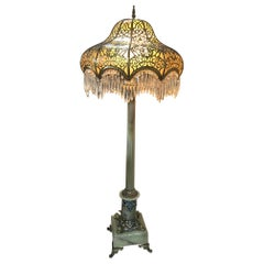 French Champleve and Onyx Bronze Floor Lamp, 19th Century