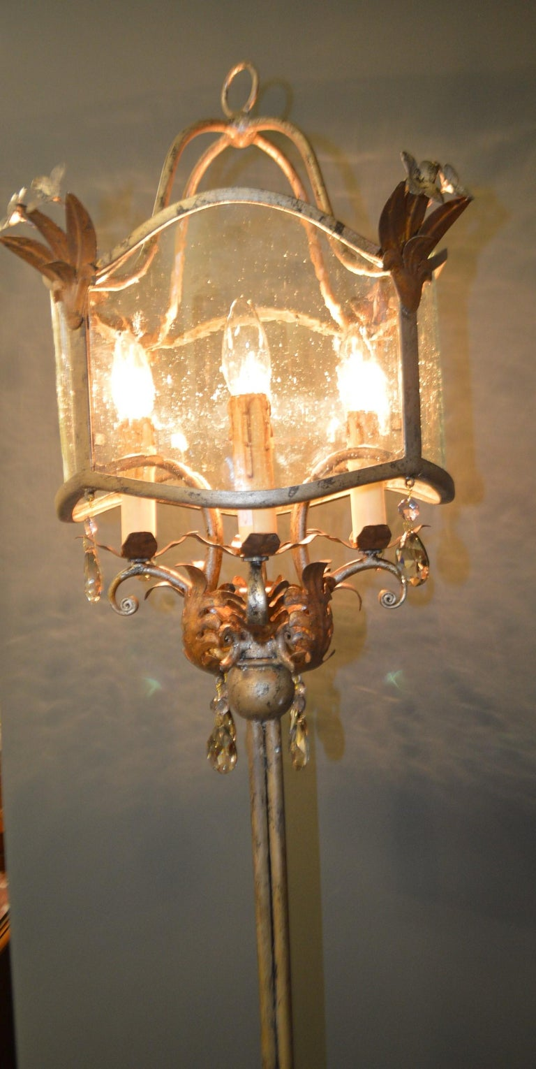 French Chandelier Style Four Lights Floor Lamps