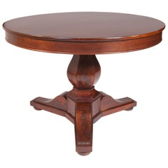 French Charles X Centre Table/Guéridon in Mahogany