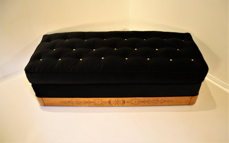 Marquetry French Charles X Daybed, 1825 For Sale