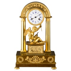 French Charles X Ormolu Mantel Clock