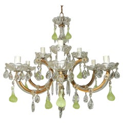 French Chartreuse Figs Murano Chandelier, circa 1920