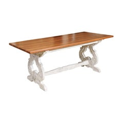 French Cherry Trestle Table