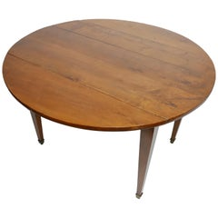 French Cherry Wood Drop-Leaf Table, Early 19th Century