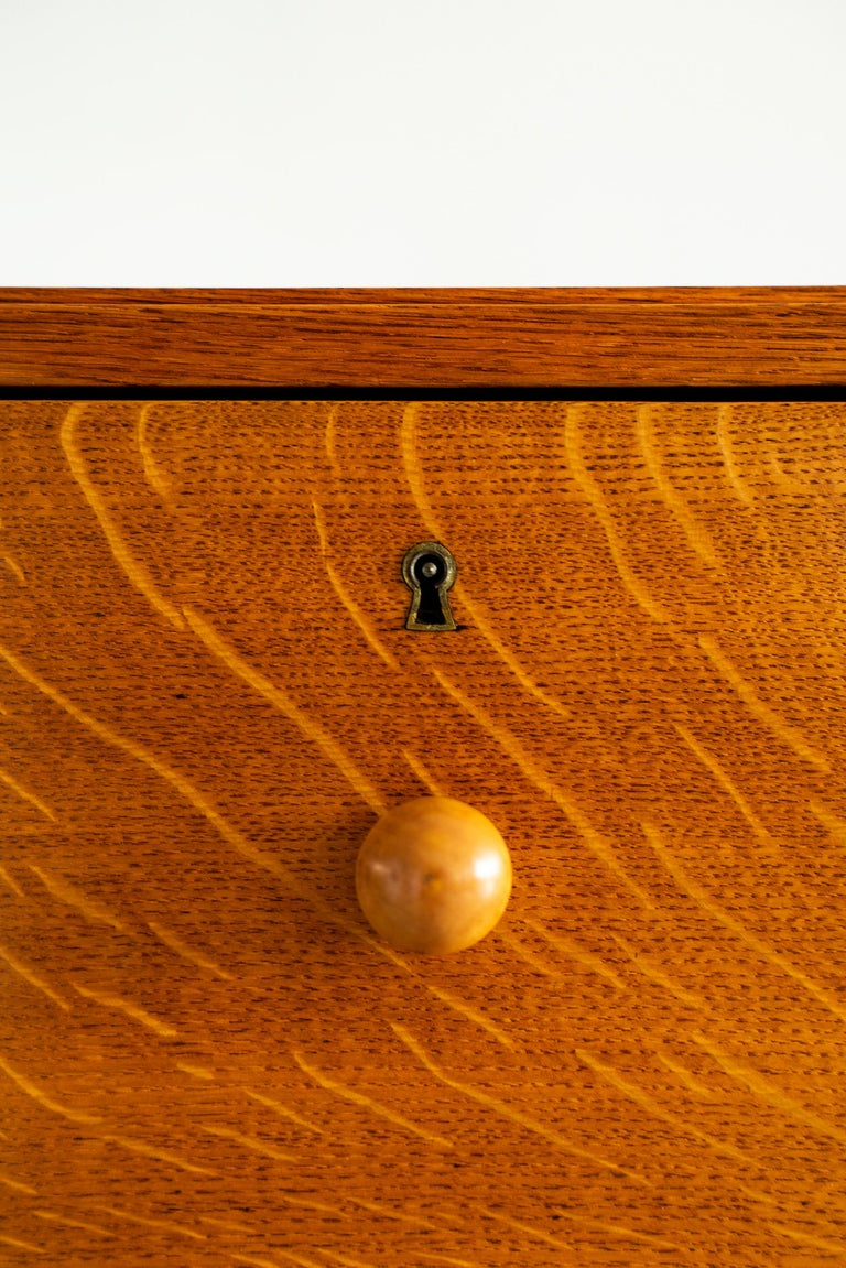 Oak French Chest of Drawers, circa 1940s For Sale
