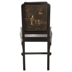 French Chinoiserie Neoclassical Chair, 1960s